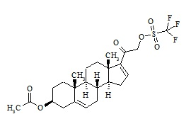 Abiraterone Related Compound 5 (Pregnenolone-16-ene Acetate 21-Triflate)