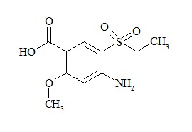 Amisulpride impurity (2-Methoxy-4-amino-5-ethylsulfonylbenzoic Acid)