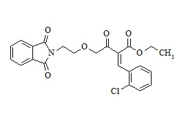 Amlodipine Related Compound (Ethyl 2-(2-Chloro-benzylidene)-4-[2-(1,3-dioxo-1,3-Dihydro-Isoindol-2-yl)-Ethoxy]-3-Oxo-But