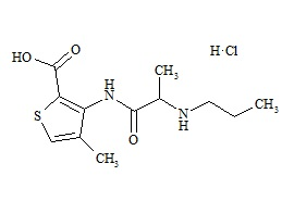 Articaine Impurity B (Articaine Acid HCl)