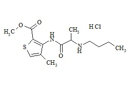Articaine Impurity G (Butylarticaine HCl)