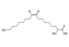 2-Hydroxy Oleic Acid (Mixture of Z and E Isomers)